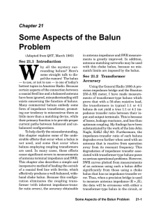 Some Aspects of the Balun Problem