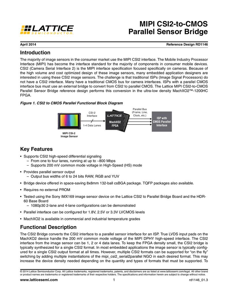 MIPI CSI2-to-CMOS Parallel Sensor Bridge
