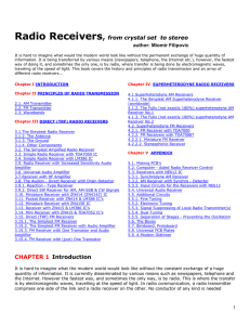 Radio Receivers, from crystal set to stereo CHAPTER 1 Introduction