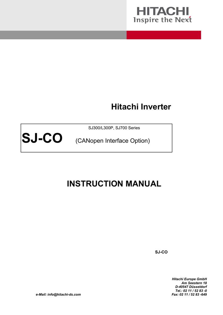 hitachi sj700 manual