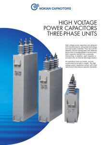high voltage power capacitors three-phase units