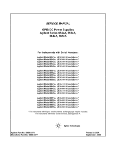 SERVICE MANUAL GPIB DC Power Supplies Agilent Series 654xA