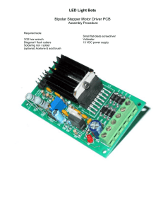 LED Light Bots Bipolar Stepper Motor Driver PCB