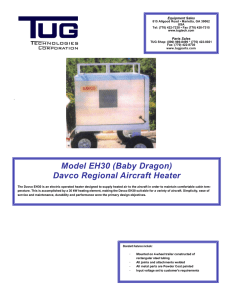 Model EH30 (Baby Dragon) Davco Regional Aircraft Heater