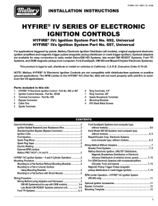 hyfire® iv series of electronic ignition controls
