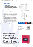 WR2000 Series Conventional Manual Call Points