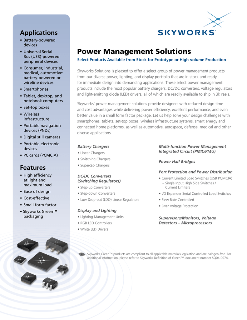 Power Management Solutions Micropower Linear Voltage Regulator In The Battery Charger Circuit