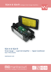 SGA Strain Gauge Load Cell Amplifier / Signal Conditioner Manual