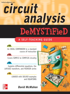 Circuit Analysis Demystified - one step easy a wonderful site