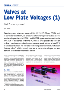Valves at Low Plate Voltages (2)