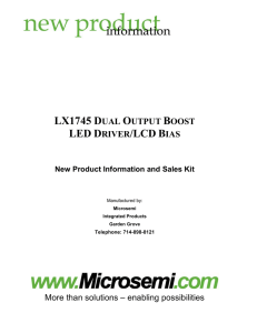 lx1745 dual output boost led driver/lcd bias