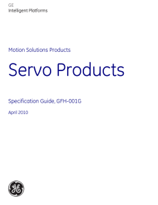 Servo Products Specifications Guide, GFH-001G