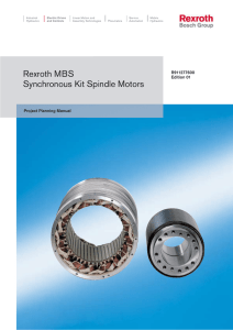 Rexroth MBS Synchronous Kit Spindle Motors
