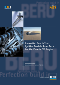 Innovative Pencil-Type Ignition Module from Beru for the Porsche V8