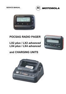 POCSAG RADIO PAGER LX2 plus / LX2 advanced LX4