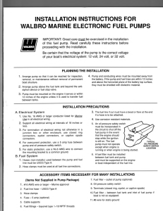 installation instructions for walbro marine electronic fuel pumps