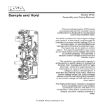 Sample and Hold Model 9752 Assembly and Using Manual