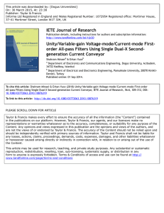 IETE Journal of Research Unity/Variable-gain Voltage