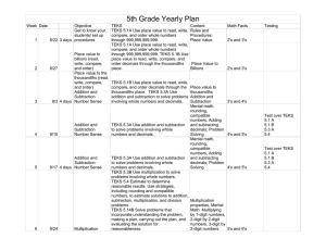 5th Grade Yearly Plan