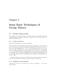 Some Basic Techniques of Group Theory