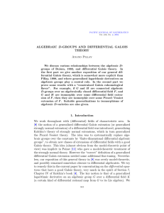 Algebraic D-groups and differential Galois theory