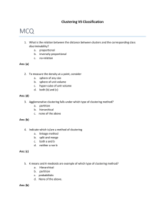 MCQ Clustering VS Classification