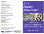 resident research day - Department of Medicine
