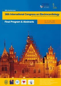 Conference program - International Society of Electrocardiology