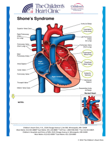 Shone`s Syndrome - The Children`s Heart Clinic, PA