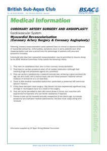 Coronary Artery Surgery and Angioplasty