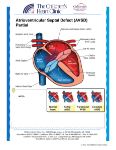 Atrioventricular Septal Defect AVSD