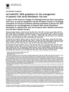 ACC/AHA/ESC 2006 guidelines for the management