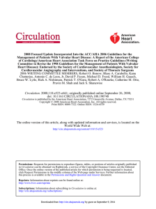 2008 Focused Update Incorporated Into the ACC/AHA 2006 Guidelines for... Management of Patients With Valvular Heart Disease: A Report of...