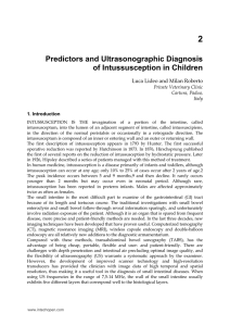 Predictors and Ultrasonographic Diagnosis of Intussusception in