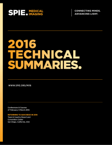 2016 technical summaries