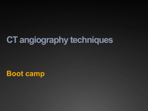 CT angiography techniques