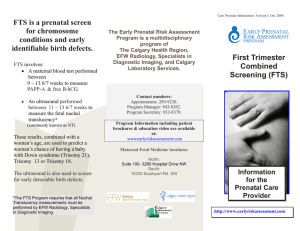 Care Provider Information - Early Prenatal Risk Assessment Program