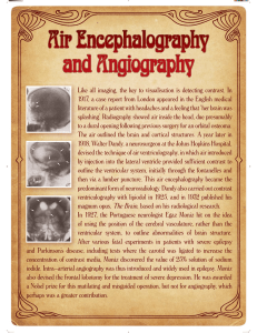 Air Encephalography and Angiography Air Encephalography and