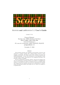 Scotch and libScotch 5.1 User`s Guide - Gforge