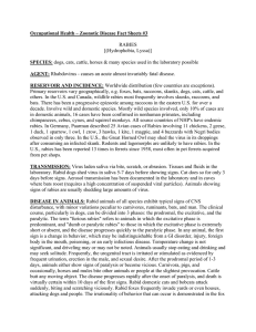 Occupational Health – Zoonotic Disease Fact Sheets #3 RABIES