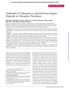 Outbreaks of Tularemia in a Boreal Forest Region