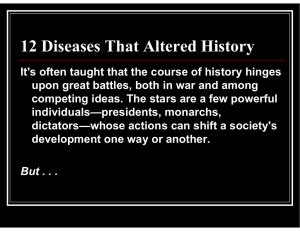 12 Diseases That Altered History