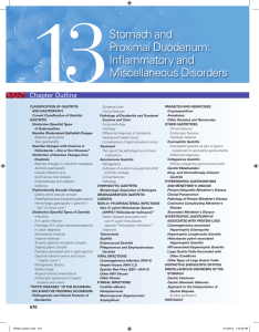Stomach and Proximal Duodenum: Inflammatory and Miscellaneous