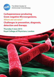 Carbapenemase June 2015 programme and registration form.indd
