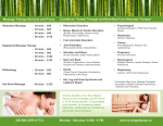 our Massage Treatment Brochure