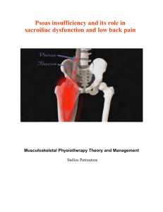 Psoas insufficiency and its role in sacroiliac dysfunction and low