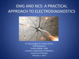 emg and ncs: a practical approach to