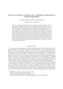 PARTIAL DYNAMICAL SYSTEMS AND C∗