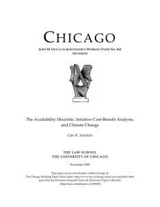 "263. Cass R. Sunstein, ""The Availability Heuristic, Intuitive Cost"