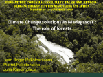 Climate Change solutions in Madagascar: The role of forests